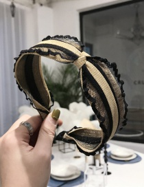 Fashion Yellow Lace Fungus Bronzing Knotted Hair Hoop