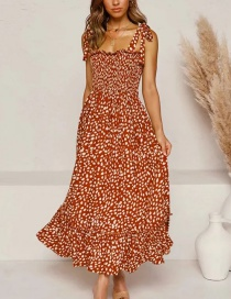 Fashion Red Off-the-shoulder Floral Lace Dress