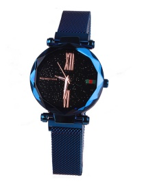 Fashion Blue Starry Sky Waterproof Imported Movement Watch