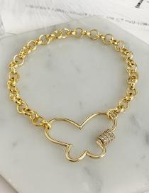 Fashion Golden Cubic Zirconia Butterfly Bracelet
