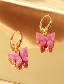 Fashion Red Acrylic Butterfly Alloy Earrings