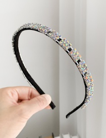 Fashion Ab Color Alloy + Ab Color Square Hair Hoop