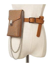 Bolso De Cinturón Con Tachuelas Y Cinturón De Seguridad