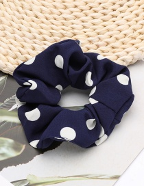 Fashion Blue Polka Dot Printed Bowel Hair Rope