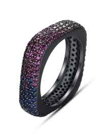 Fashion Color Geometric Ring With Fancy Diamonds