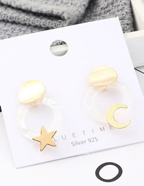 Fashion Gold Plated Gold Star S925 Silver Needle Earrings