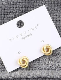 Fashion Gold Plated Gold-plated Small Flowers S925 Silver Needle Earrings