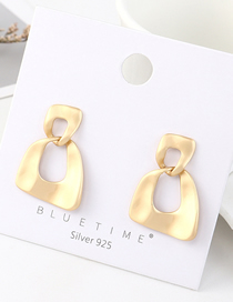 Fashion Gold Plated Gold Cutout S925 Silver Needle Earrings