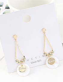 Fashion Golden Real Gold Plated S925 Silver Pin Earrings