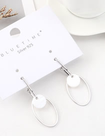 Fashion Platinum Acrylic Circle Cutout Earrings