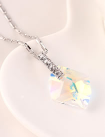 Fashion Color White Austrian Crystal Diamond Necklace