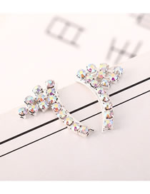 Fashion Platinum Angel Wing Stud Earrings