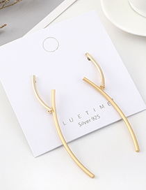 Fashion Golden Gold-plated Twig Earrings