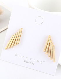Fashion Golden Gold-plated Geometric Wing Earrings