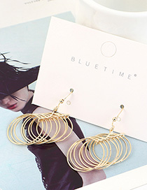 Fashion 14k Gold Gold-plated Small Hoop Geometric Earrings