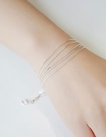 Fashion Silver Five-wire Alloy Delicate Bracelet