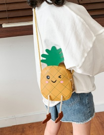 Fashion Yellow Cartoon Pineapple Children Shoulder Bag