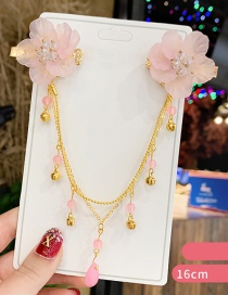 Fashion Pink Flowers Resin Flower Bell Children's Forehead Chain Issue Card