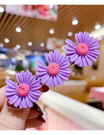Fashion Purple Series Resin Small Daisy Flower Hit Color Child Hair Clip