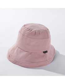 Fashion Pink English Small Logo Stitching Fisherman Hat