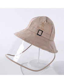 Fashion Beige Letter Embroidery Upgrade Thickened Anti-foam Cotton Fisherman Hat