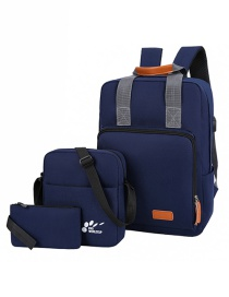 Fashion Navy Blue Canvas Monogram Backpack