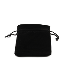 Fashion Black Handmade Flannel Drawstring Jewelry Bag