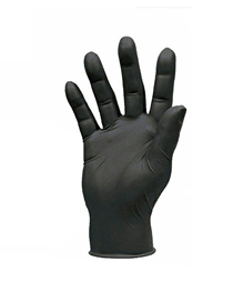 Fashion Black Boxed Disposable Nitrile Powder Free Acid And Alkali Resistant Industrial Rubber Gloves(100pcs)
