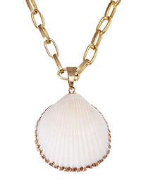Fashion Golden Alloy Shell Necklace
