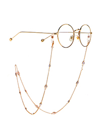 Fashion Golden Oval Pearl Copper Copper Chain