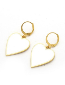 Fashion Golden Love Drop Earrings