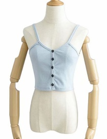 Fashion Blue Front Breasted Camisole