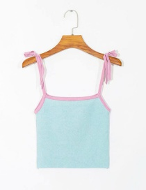 Fashion Blue Knit Camisole