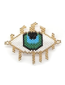 Fashion Golden Bead Braided Eye Accessories