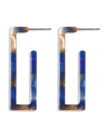 Fashion Blue Resin Square Earrings