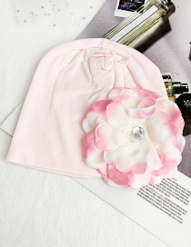 Fashion Light Pink Children's Fabric Flower Hat