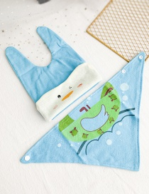 Fashion Blue Children's Cloth Cartoon Hat Saliva Towel