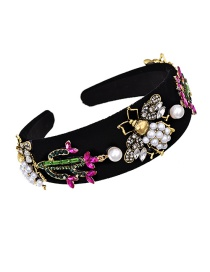 Fashion Color Cloth Alloy Diamond Pearl Bee Cactus Headband
