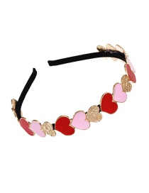 Fashion Color Alloy Drip Glaze Love Hair Hoop