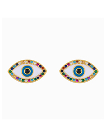 Fashion Big Eyes Dripping Eye Diamond Stud Earrings