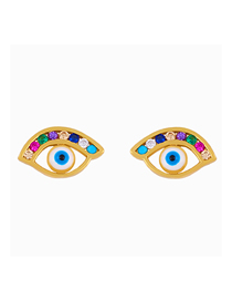 Fashion Small Eyes Dripping Eye Diamond Stud Earrings