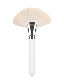 Fashion White Single Wool Fan Brush