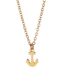 Fashion Golden Stainless Steel Anchor Alloy Necklace