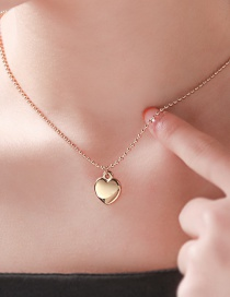 Fashion Golden Love 18k Gold Plated Stainless Steel Titanium Steel Necklace