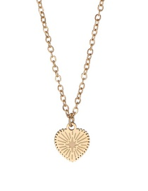 Fashion Golden Stainless Steel Heart-shaped 18k Gold Titanium Steel Necklace