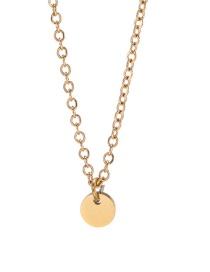 Fashion Golden Gloss Round Brand Stainless Steel Polished Necklace