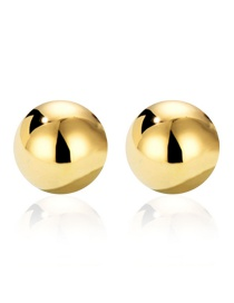 Fashion Golden Geometric Round Electroplated Metal Earrings