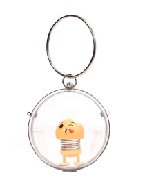 Fashion Round With 1 Large Toy Transparent Resin Chain Shoulder Bag