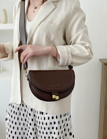 Fashion Coffee Color Embroidered Shoulder Bag