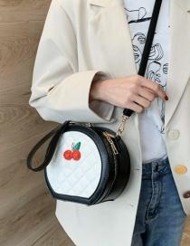 Fashion White Diamond Check Shoulder Bag